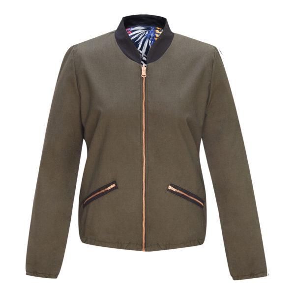 Wendebomberjacke Tropic khaki+INDBerlin+wandelbare Mode