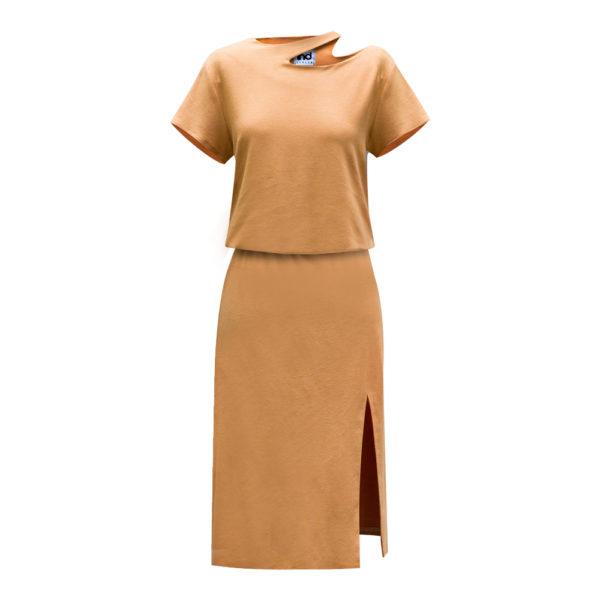 wandelbare mode+kleid mit schlitz