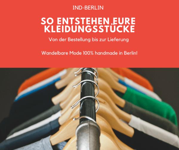 Seht hier wie wir eure wandelbare, nachhaltige Kleidung per Hand in Berlin fertigen