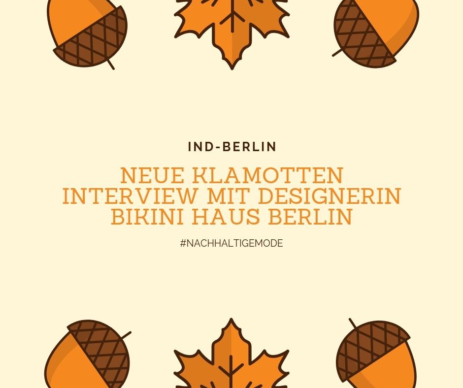 Neue Klamotten+Interview mit Designerin+Bikini Haus