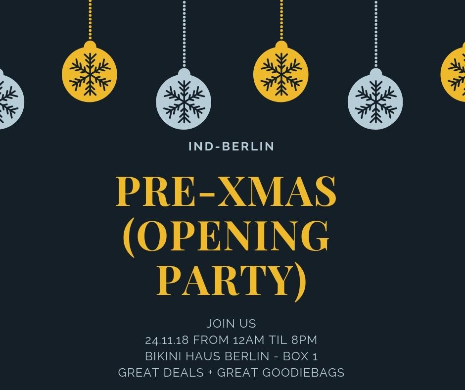 IND-BERLIN PRE X-MAS PARTY