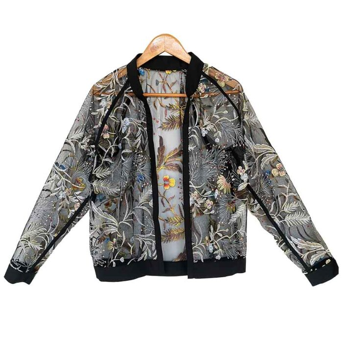 semitransparent jacke
